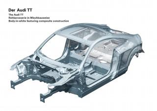 El Audi TT premiado por el innovador concepto de carrocería