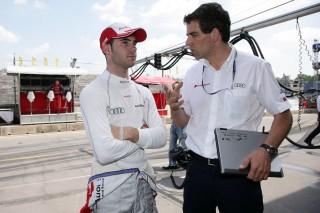 Miguel Molina con su ingeniero, Markus Michelberger