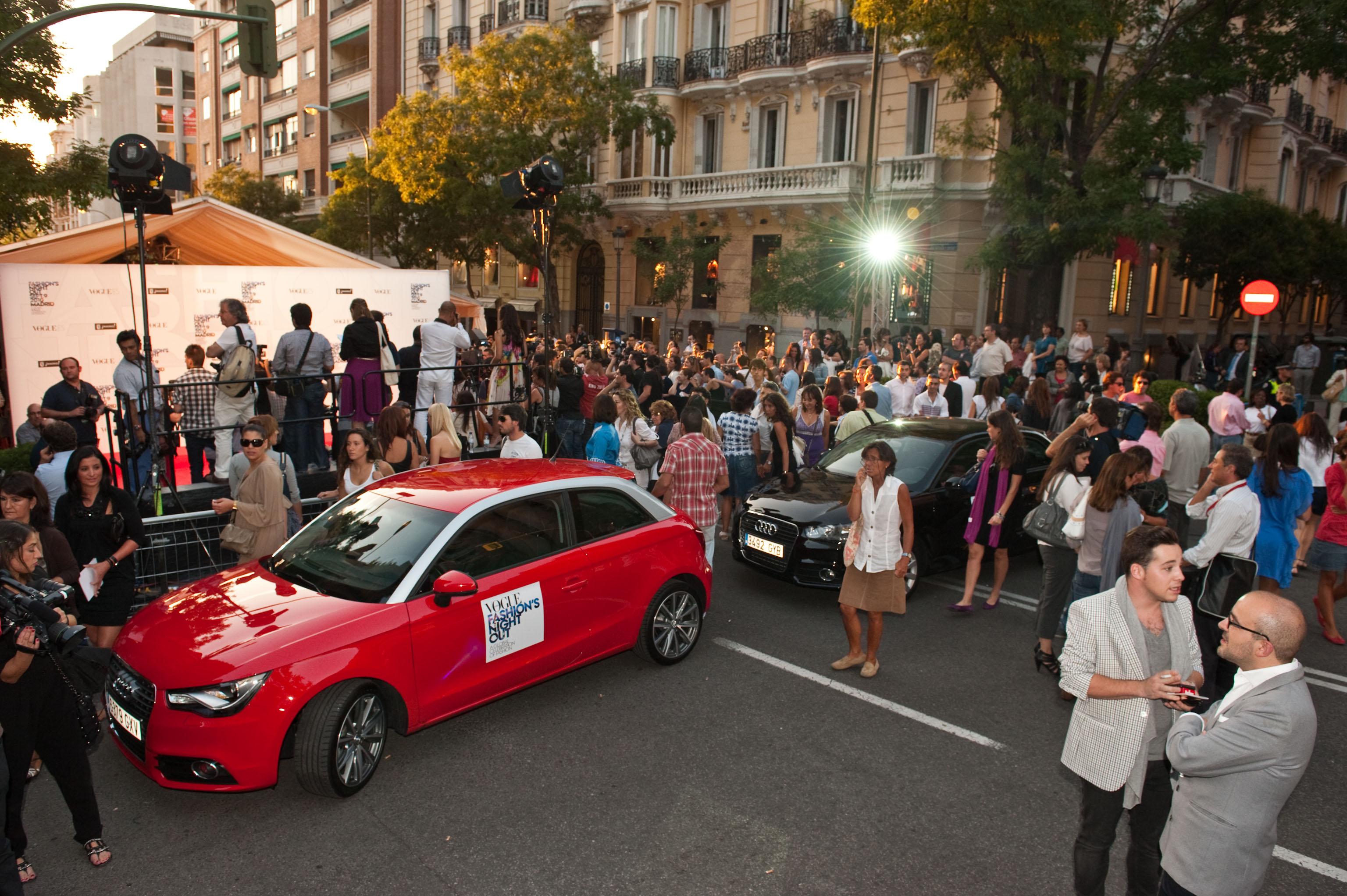 El nuevo Audi A1 desfila con éxito en la Noche de la Moda