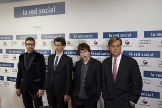 """Los protagonistas de """"La Red Social"""" eligieron a Audi para su estreno en Madrid"""