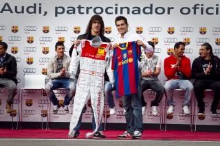 Los jugadores del FC Barcelona disfrutan conduciendo Audi