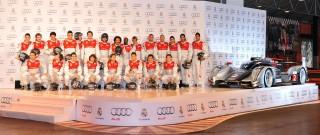 El Real Madrid disfruta de la pasión del automovilismo y de sus nuevos vehículos Audi