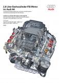 2,8 Liter-Sechszylinder-FSI-Motor im Audi A6