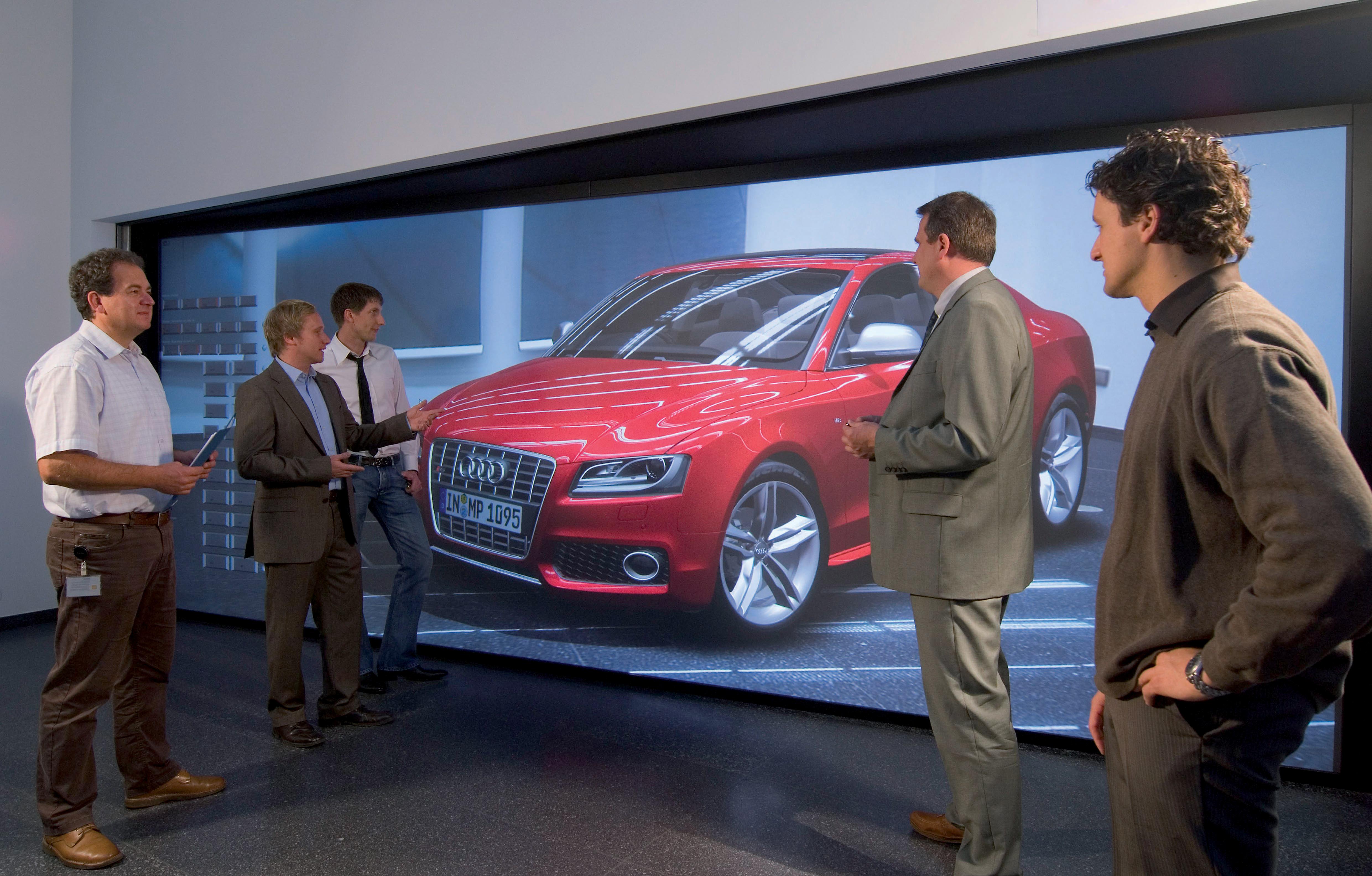Neue Praesentationstechnologie in der virtuellen Welt bei Audi.