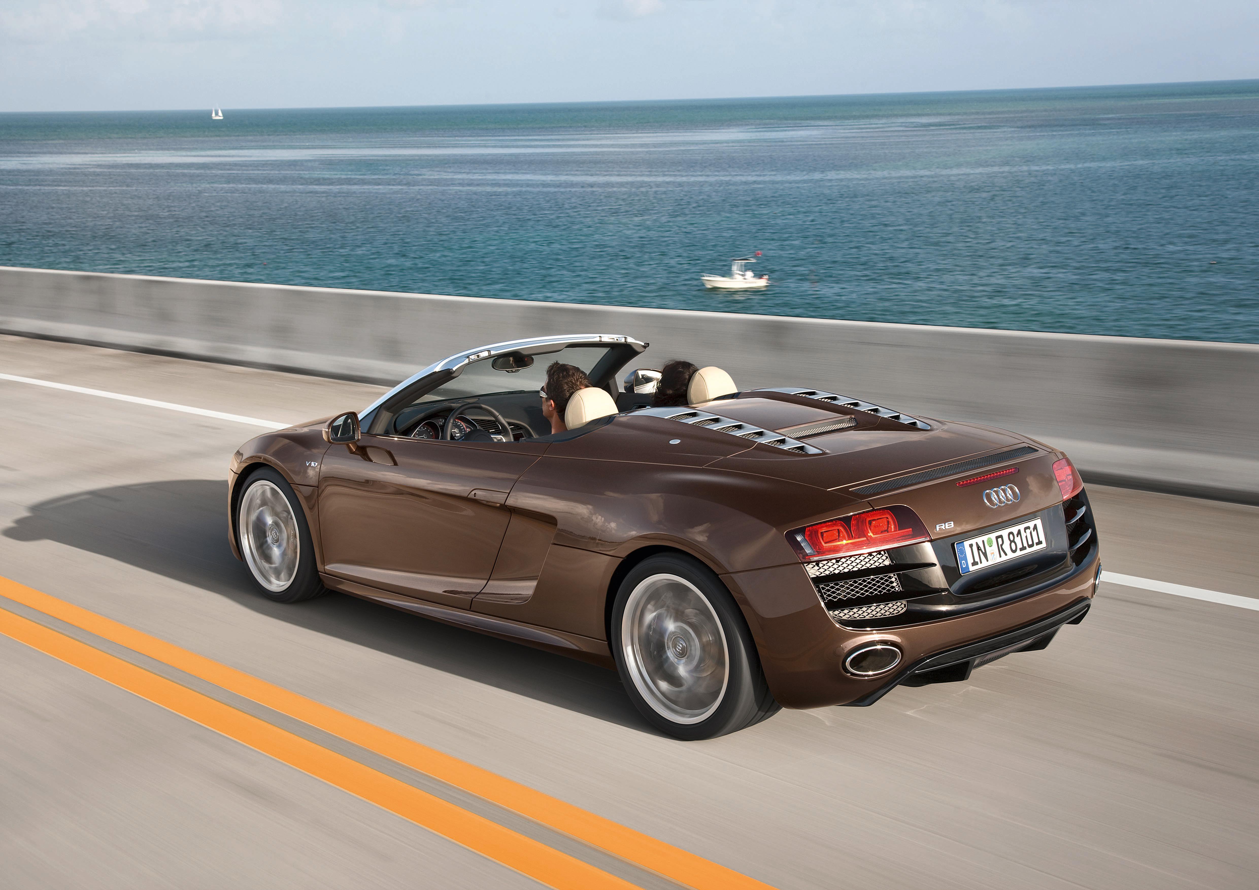 Audi R8 Spyder/Fahraufnahme