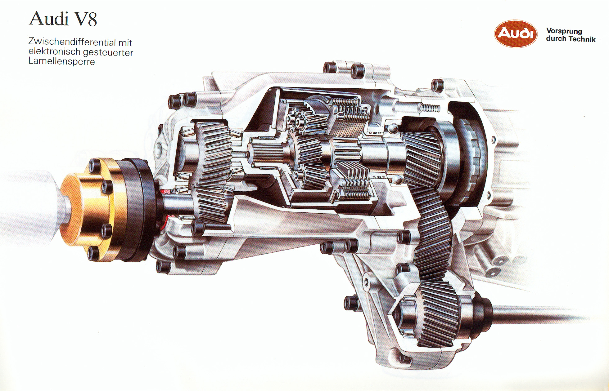 Audi V8 Diferencial Central Planetario Con Embrague