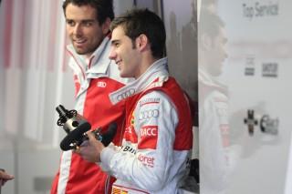 Miguel Molina y su ingeniero Markus Michelberger