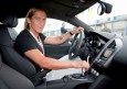 Michel Salgado en el nuevo Audi R8 - Presentación Audi A5 y R8 al Real Madrid