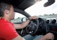 Marcelo en el cockpit del Audi TT - Presentación Audi A5 y R8 al Real Madrid