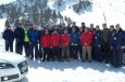 La plantilla del FCBarcelona Borges realiza el Audi driving experience sobre nieve en Grandvalira