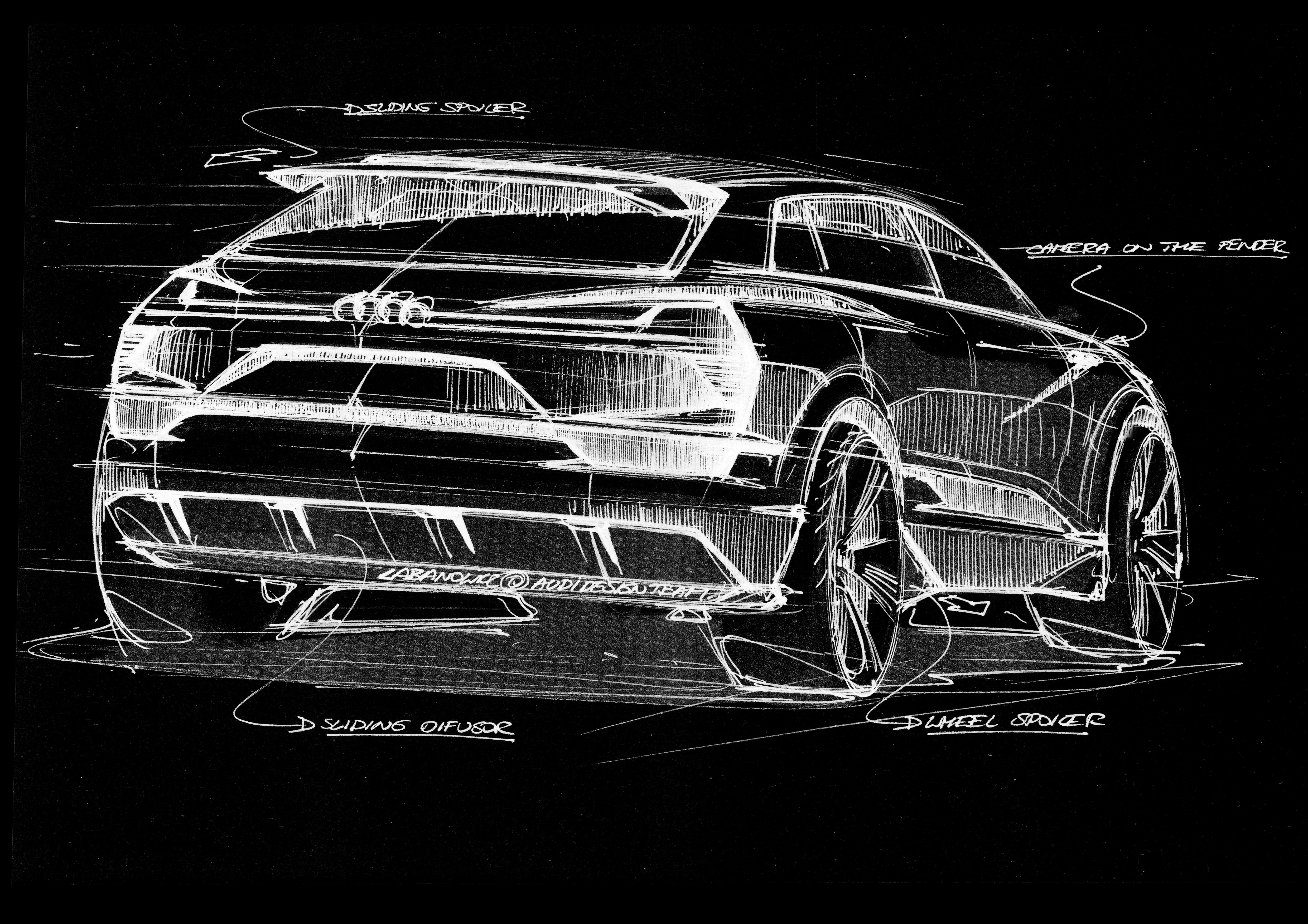 Audi e-tron quattro concept â?? Exterior Sketch â?? Rear