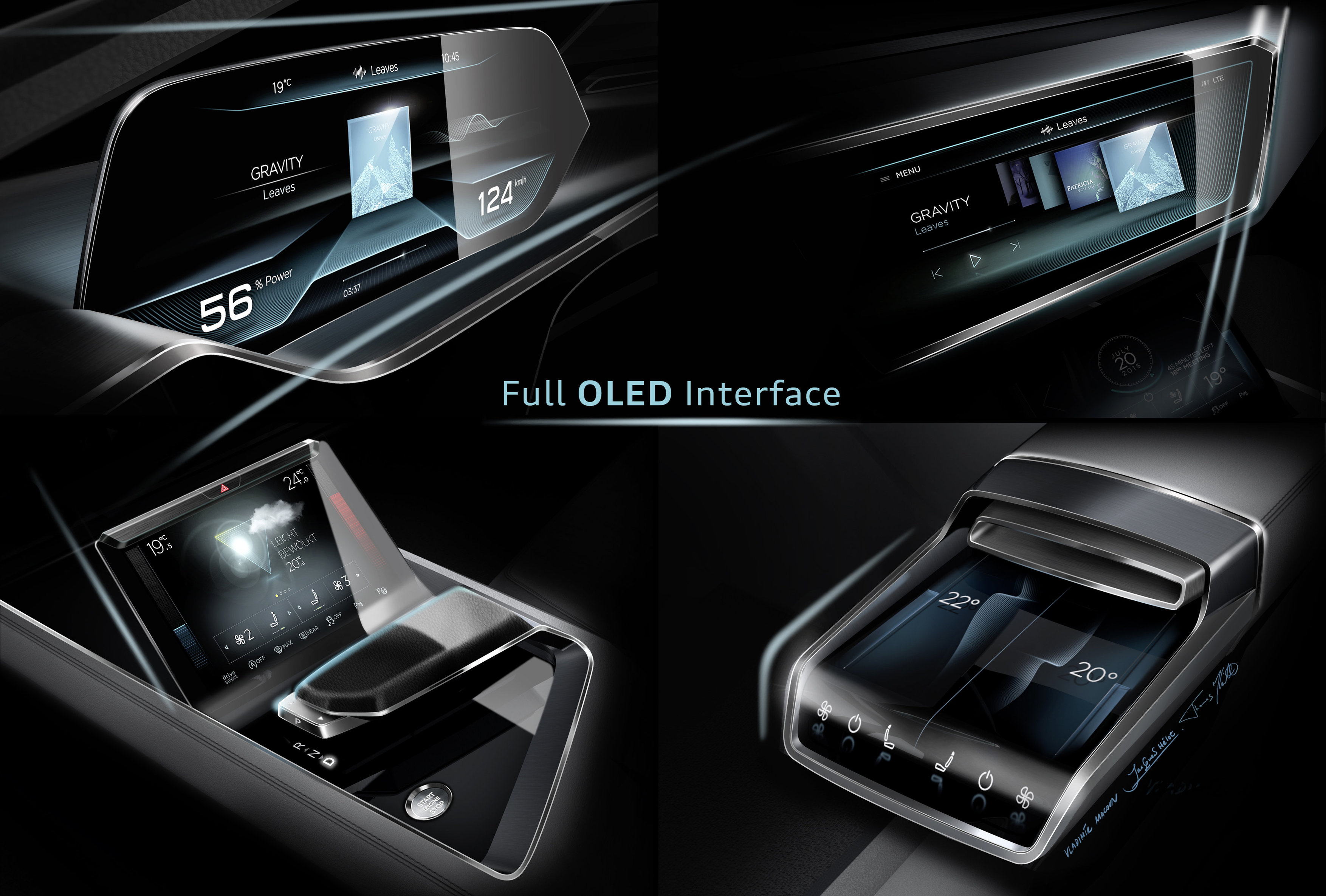 Audi e-tron quattro concept â?? OLED-based operating and display