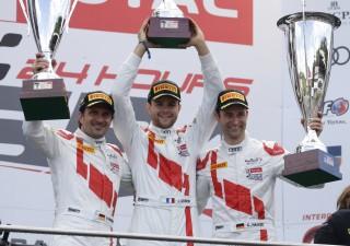 Audi celebra su cuarta victoria en las  24 Horas de Spa