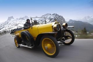 Audi Alpensieger auf den Spuren der historischen Alpenfahrt von 1914