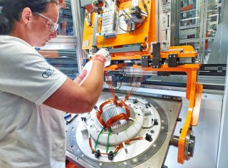 Audi Hungaria starts series production of electric motors