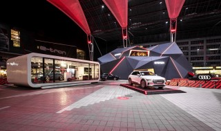 Audi e-tron hits Munich Airport with full force