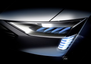 Audi e-tron quattro concept – Headlight with e-tron light sign