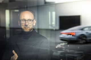 Marc Lichte, Leitung Design, AUDI AG,mit dem etron GT
