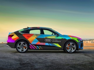 United under the flag of diversity: Audi employees celebrate Eur